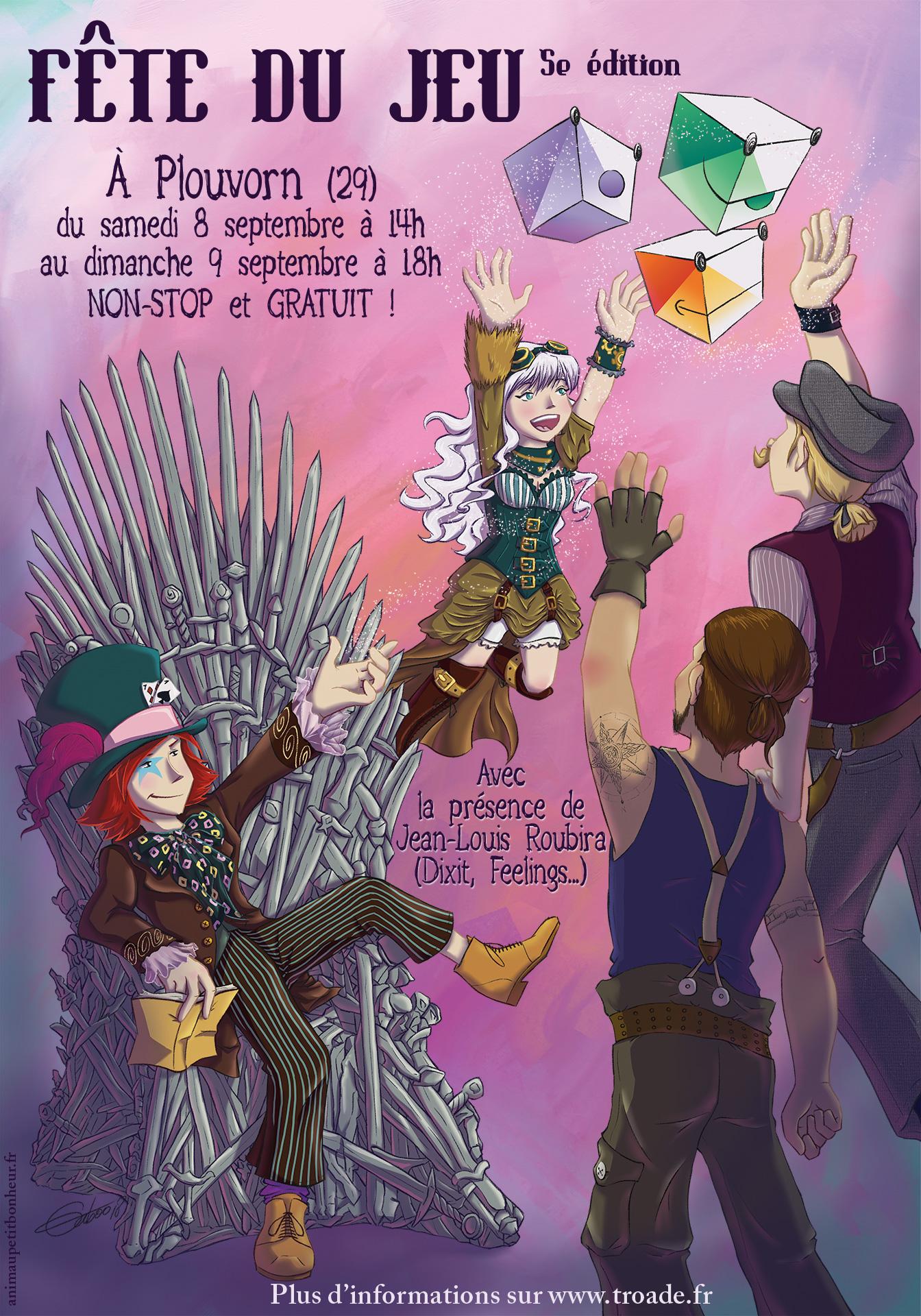 """Fête du jeu """"Troadé"""" les 8-9 septembre, à Plouvorn (29) Affiche_troade2018"""